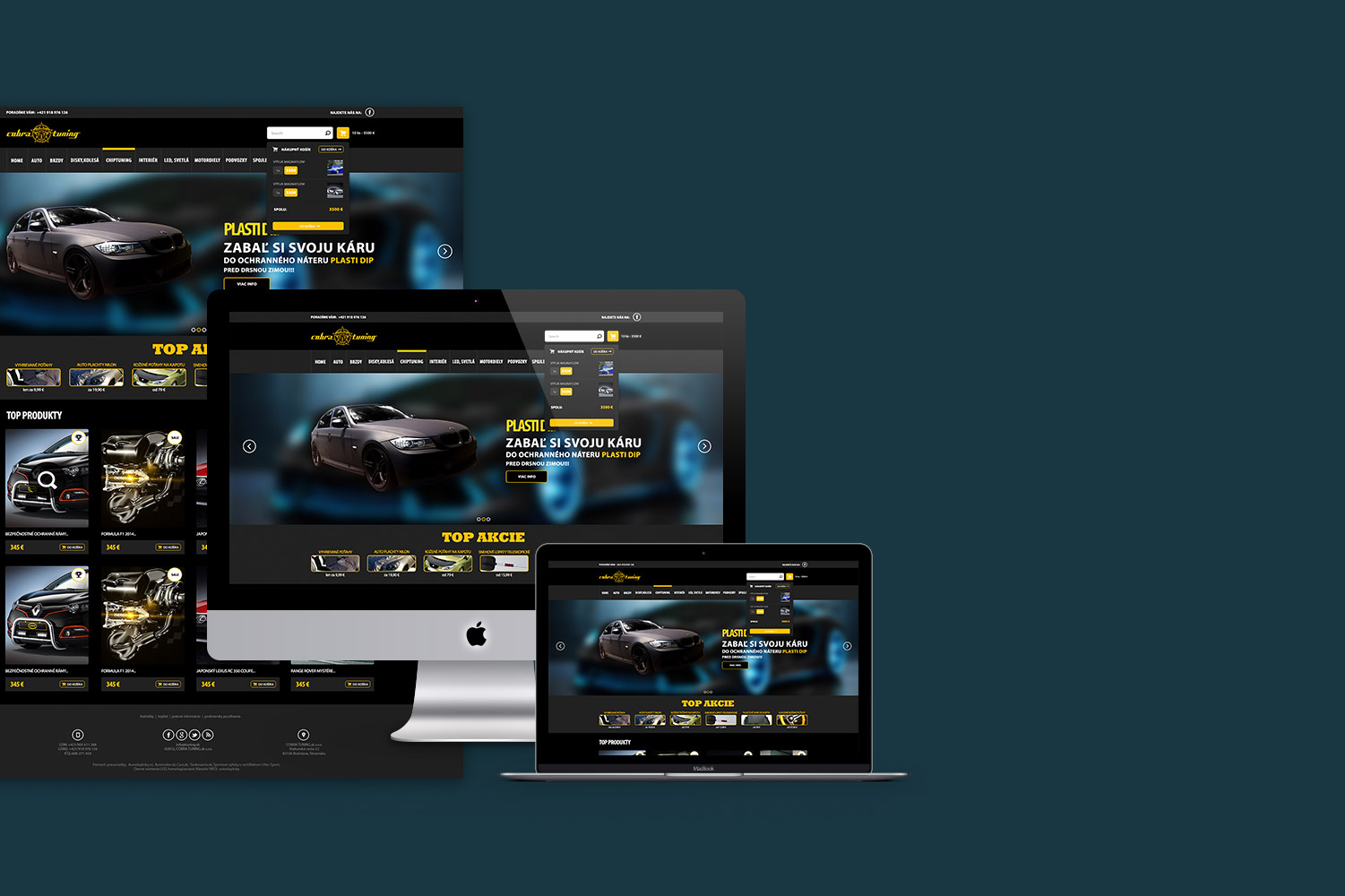 Cobra Tuning, web design image