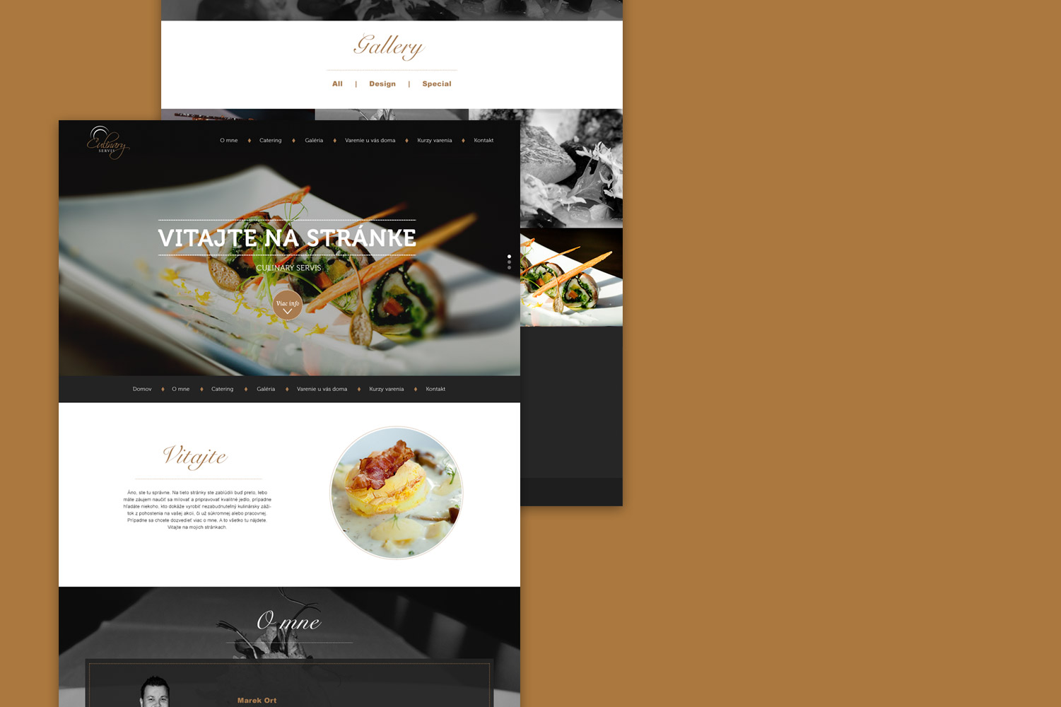 Culinary Servis, web design and business cards image